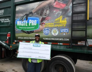 garbage truck driver salary florida